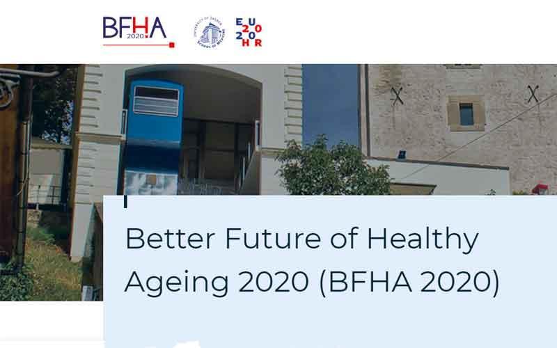 Sanja Bencetić i Ivana Fabrio na konferenciji Better Future for Healthy Ageing 2020