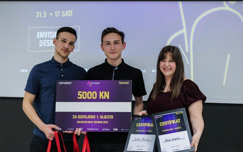 Studenti dizajna nagrađeni na Vizionaru 2019. – pobjednici case-a Zagrebačke banke su Erik Burić i Nikola Heged!