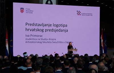 Predstavljen službeni vizualni identitet predsjedanja RH Vijećem EU 2020. autorice studentice Ive Primorac i njenog tima sa Studija dizajna